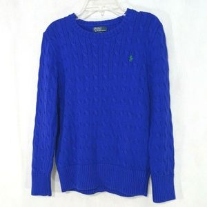 Polo Ralph Lauren Sweater Crew Neck Royal Blue